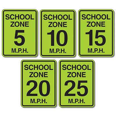 Speed Limit Signs - School Zone