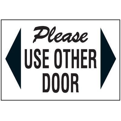 Security & Door Labels- Use Other Door