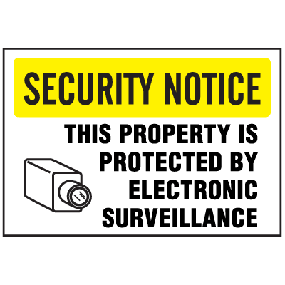 See-Thru Security Decals - Property