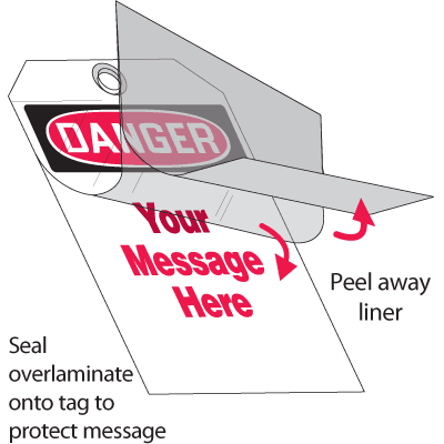 Self-Laminating Tags - Danger Header Only