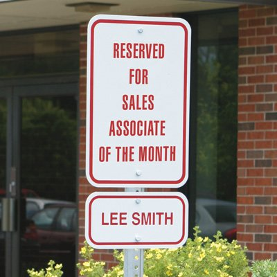 Semi-Custom Acknowledgement Parking Signs