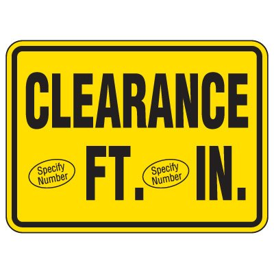 Semi-Custom Heavy-Duty Hazardous Work Site Signs - Clearance