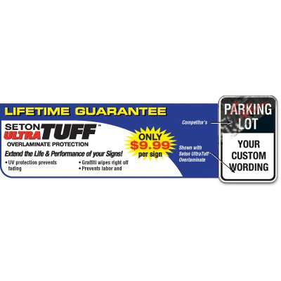 Custom Aluminum Parking Signs - Parking Lot