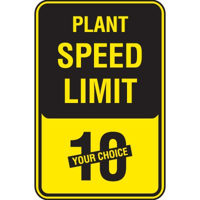 Semi-Custom Plant Speed Limit Signs
