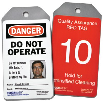 Semi-Custom ToughWash® Encapsulated Plastic Tags