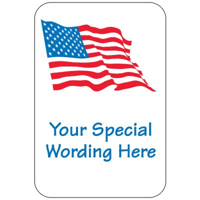 Semi-Custom Traffic and Parking Sign - American Flag