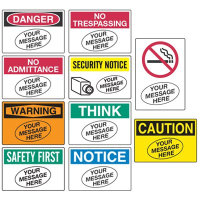 Semi Custom Workplace Safety Signs Custom Signs Seton