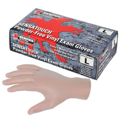 MCR SensaTouch Vinyl Disposable Gloves 5010-L