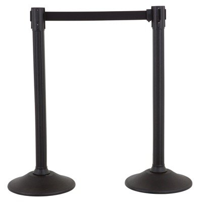 Sentry Steel Stanchions with Black Belt