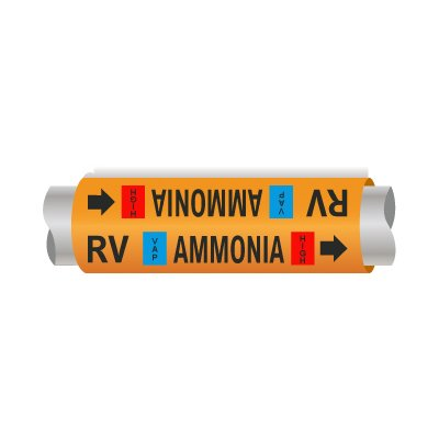 Setmark® Ammonia Pipe Markers - Relief Vent