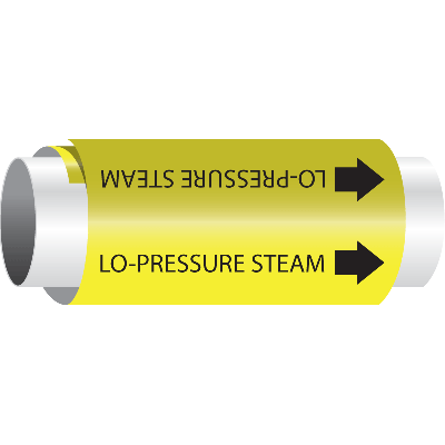 Setmark® Snap-Around Pipe Markers - Lo-Pressure Steam