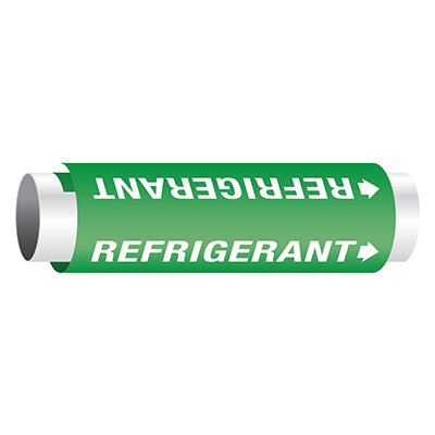 Setmark® Snap-Around Pipe Markers - Refrigerant