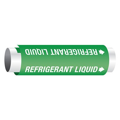 Setmark® Snap-Around Pipe Markers - Refrigerant Liquid
