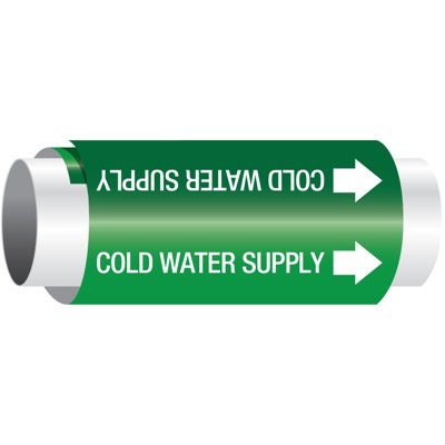 Setmark® Snap-Around Pipe Markers - Cold Water Supply