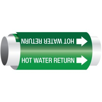 Setmark® Snap-Around Pipe Markers - Hot Water Return