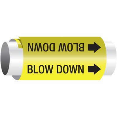 Setmark® Snap-Around Pipe Markers - Blow Down