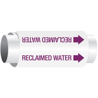 Setmark® Snap-Around Pipe Markers - Reclaimed Water