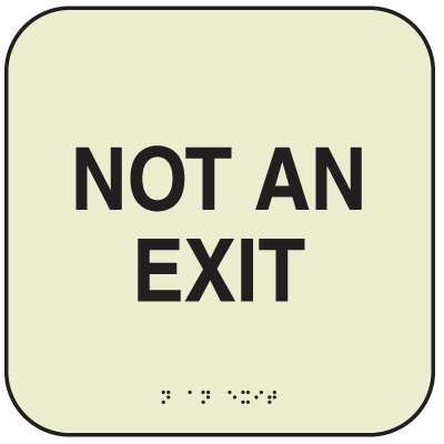 SetonGlo™ Signs - Not An Exit