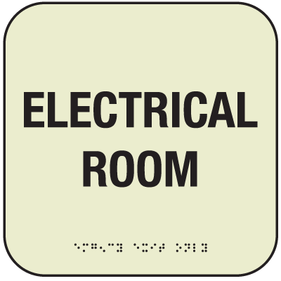 SetonGlo™ Front Office Fire Signs - Electrical Room