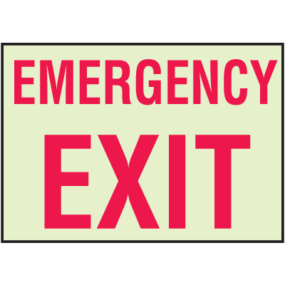 Luminous Exit and Path Marker Signs - Emergency Exit