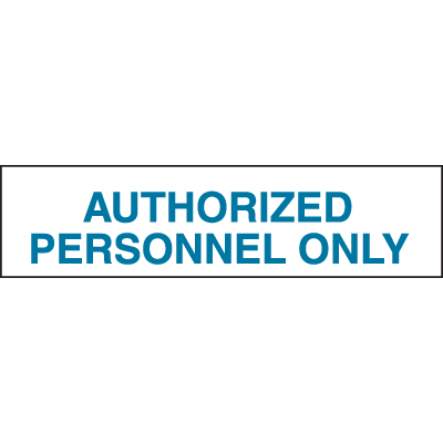 Setonsign® Value Packs - Authorized Personnel Only