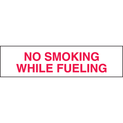 Setonsign® Value Packs - No Smoking While Fueling