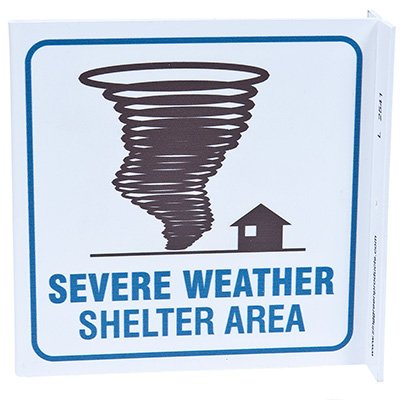 Severe Weather Shelter L-Style Sign