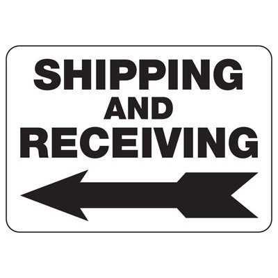 Shipping Receiving (Left Arrow) - Shipping and Receiving Signs
