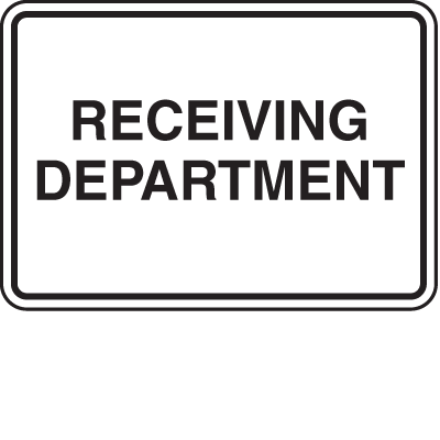 Receiving Department Shippings Signs