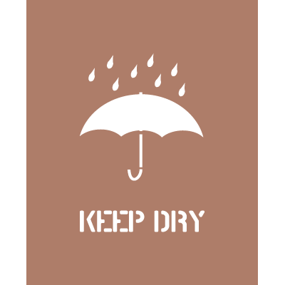 Shipping Instruction Stencils - Keep Dry
