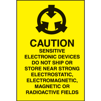 Caution Sensitive Electronic Devices Shipping Labels