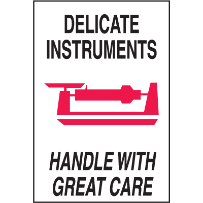 Delicate Instruments Handle With Great Care Shipping Labels