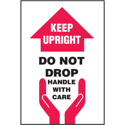 Keep Upright Do Not Drop Handle With Care Shipping Labels