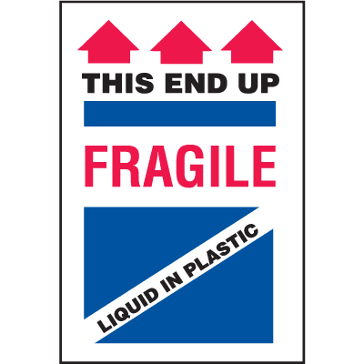 Fragile This End Up Shipping Labels