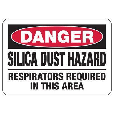 Danger Silica Dust Hazard Use Tools With - Silica Safety Sign