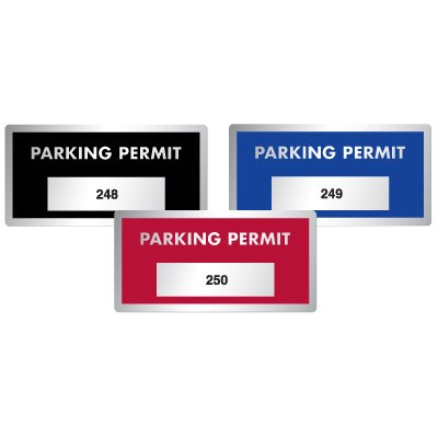 Silver Polyester Parking Permits