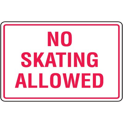 Skateboard Prevention Signs