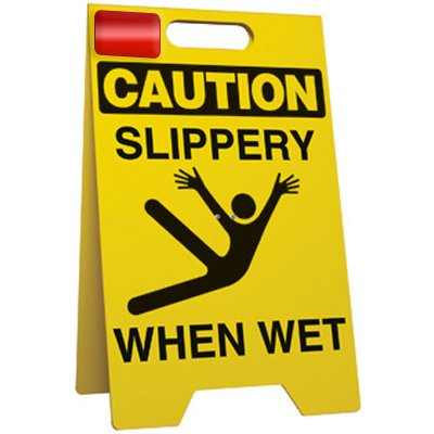 Slippery When Wet - Floor Stand