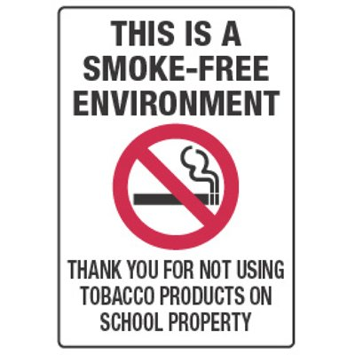 Smoke-Free Environment - Smoking Policy Signs