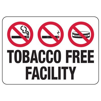 No Smoking Signs - Tobacco Free Facility