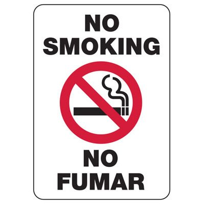 No Smoking Signs - Please Do Not Throw Cigarette Butts