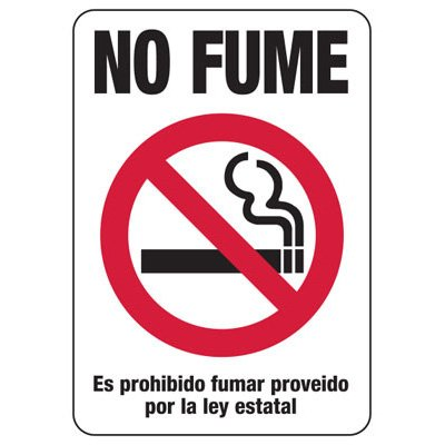 Kansas Spanish No Smoking Sign