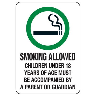 State Smoke-Free Law Signs - CO Smoking Allowed