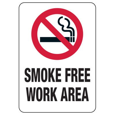 State Smoke-Free Law Signs - CO Smoke-Free Work Area