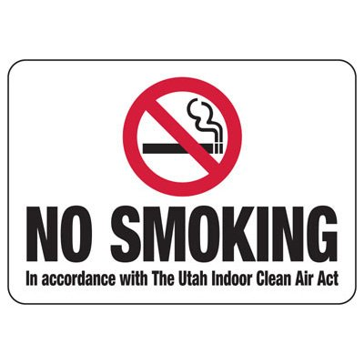 No Smoking - Utah No Smoking Sign