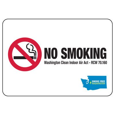 No Smoking - Washington No Smoking Sign