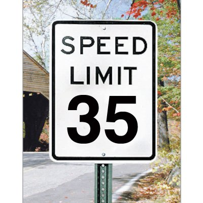 Speed Limit Signs - 35 mph