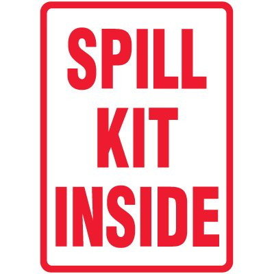 Spill Sign - Spill Kit Inside