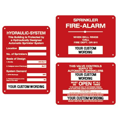 Sprinkler Identification Signs