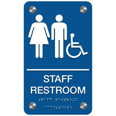 Staff Restroom (Accessibility) - Premium ADA Restroom Signs